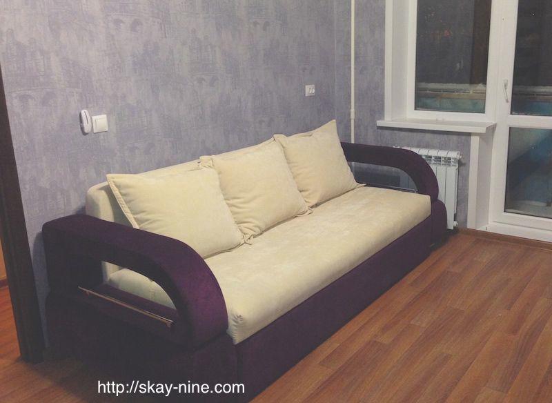 перетяжка дивана еврокнижки